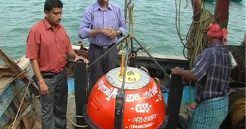 Wave rider buoy at sea