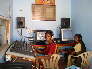 India_Women in Radio Studio_CR Nagapattinam_300