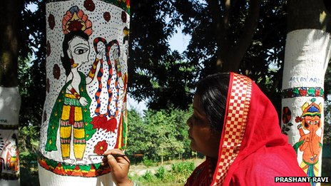 Madhubani on trees