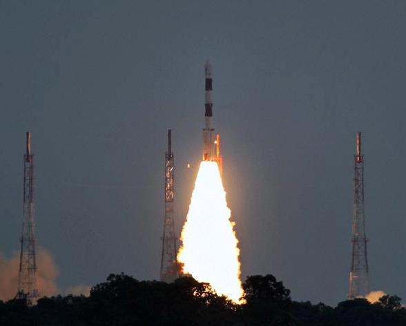 Indian rocket launches seven satellites