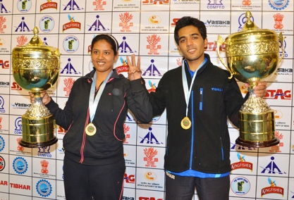 Sanil and Ankita win 75th National Table Tennis Champs
